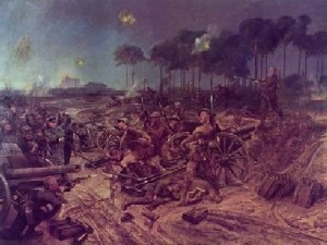 The Manchester Regiment captures a German Battery on Manchester Hill.