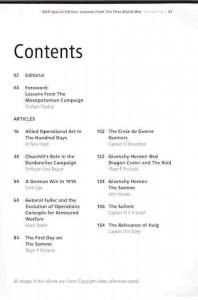 BAR 2 Contents