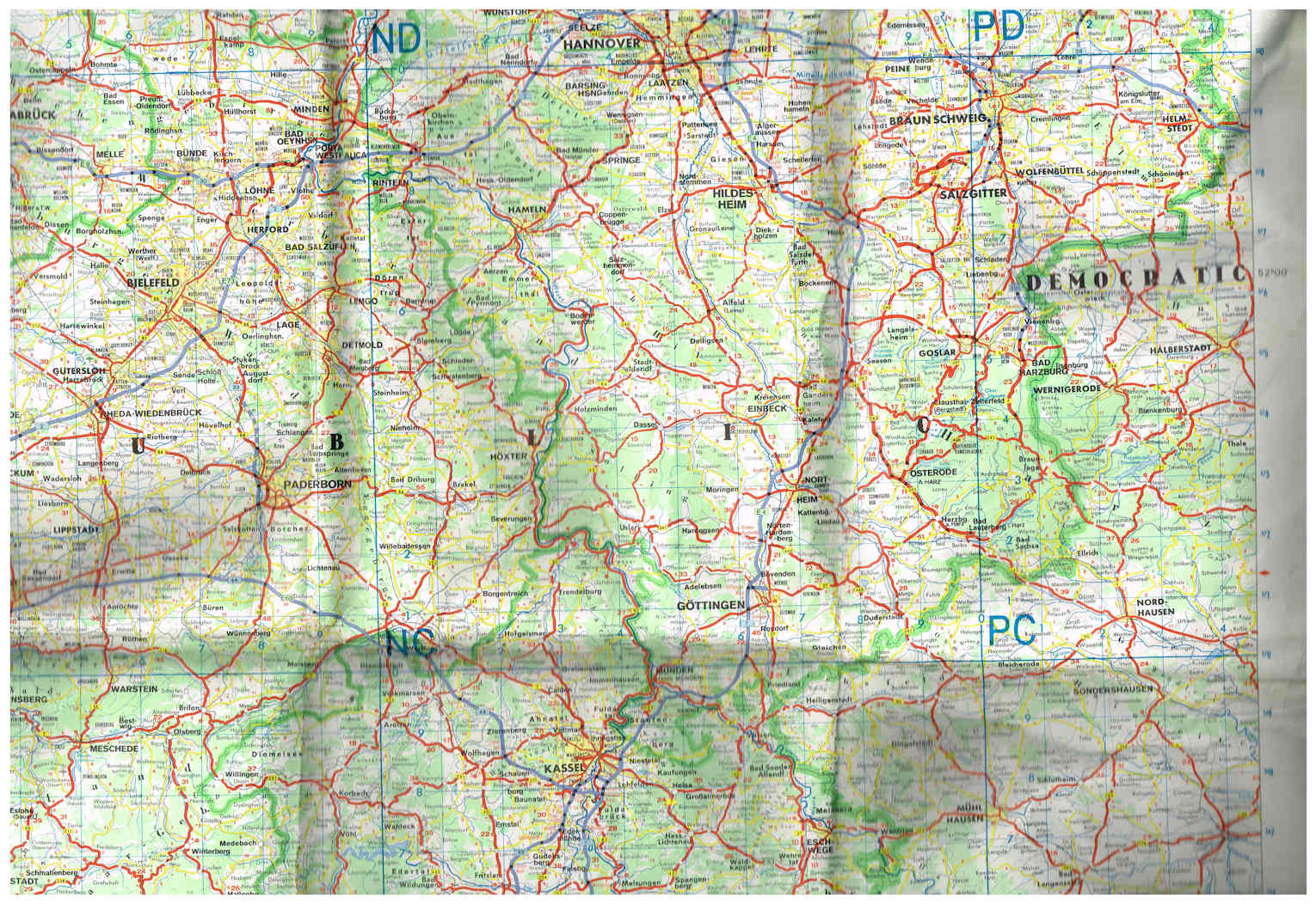 BAOR Road Map Reduced